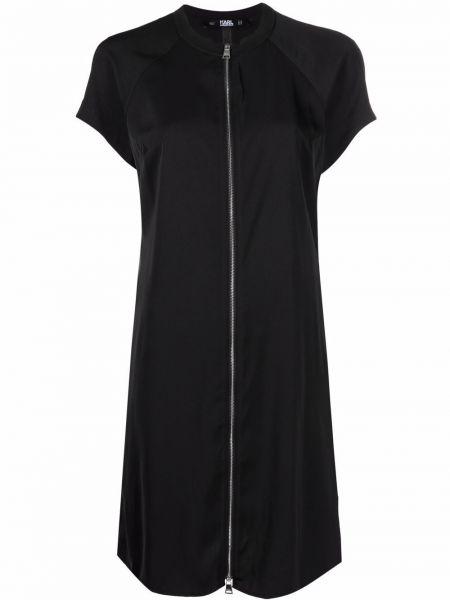 Платье мини короткое - черное Karl Lagerfeld