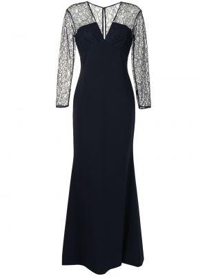 Синее платье с V-образным вырезом Sachin & Babi