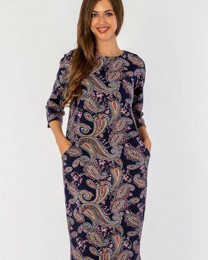 Повседневное платье осеннее синее S&a Style