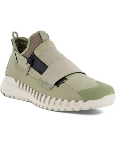 Зеленые модные кроссовки на молнии Ecco