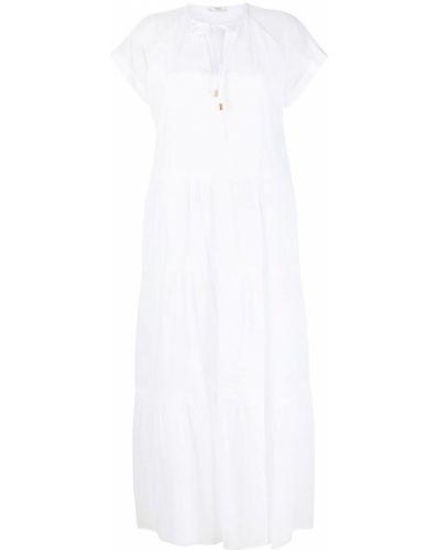 Хлопковое белое платье мини с вырезом Peserico
