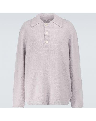Малиновый вязаный свитер с воротником Our Legacy
