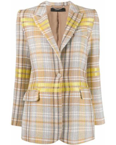 Желтый однобортный пиджак с карманами Federica Tosi