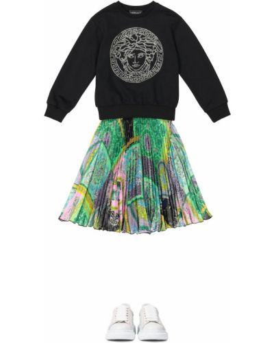 Czarny bawełna bawełna bluza Versace Kids