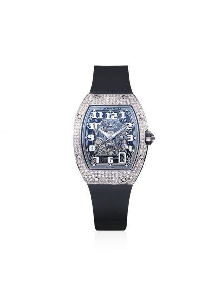 Белые часы с бриллиантом Mad Paris