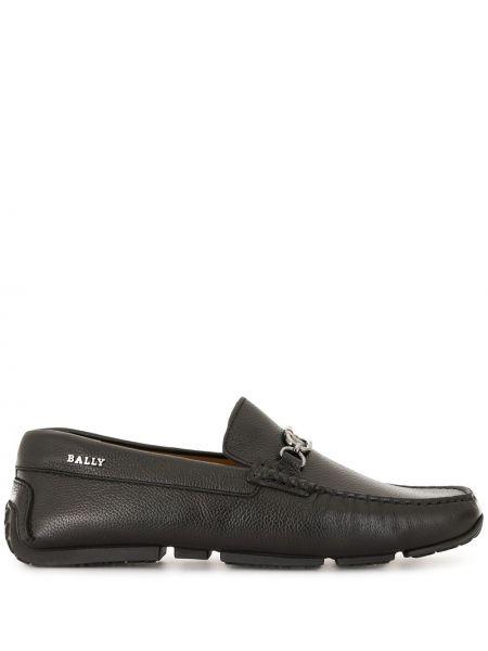 Черные кожаные мокасины с подкладкой Bally