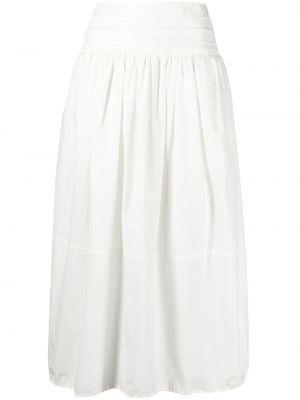 С завышенной талией белая плиссированная юбка миди Tela