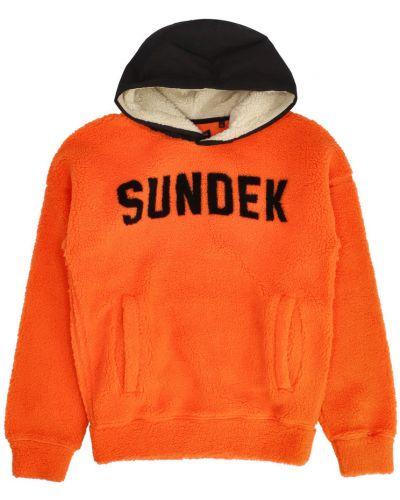 Pomarańczowa polar Sundek