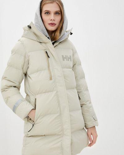 Бежевая теплая утепленная куртка Helly Hansen