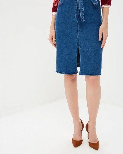 Джинсовая юбка синяя индийский Yumi