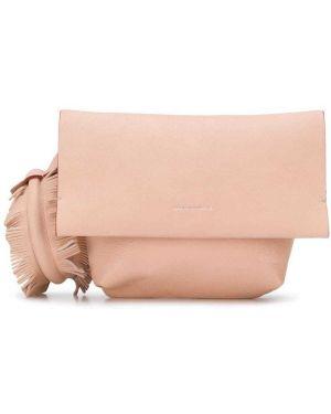 Розовая сумка на руку с бахромой Elena Ghisellini