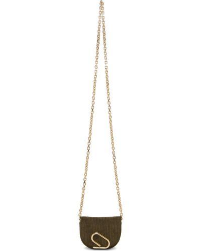 Złota torebka na łańcuszku - khaki 3.1 Phillip Lim