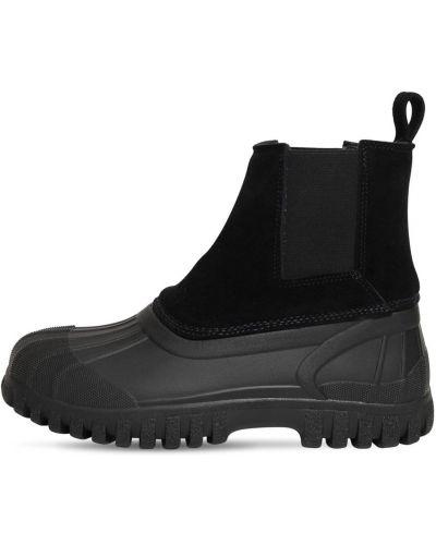 Czarne ankle boots zamszowe Diemme
