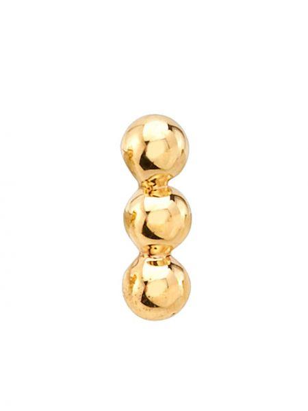 Żółte złote kolczyki ze złota Bvla