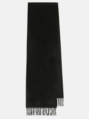 Кашемировый черный шарф Max Mara