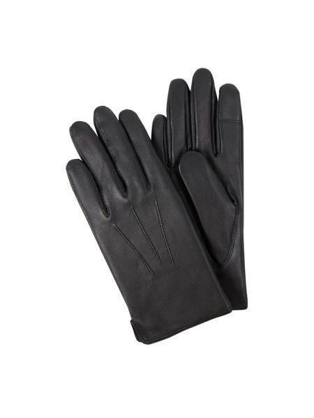 Niebieskie rękawiczki skorzane Eem-fashion