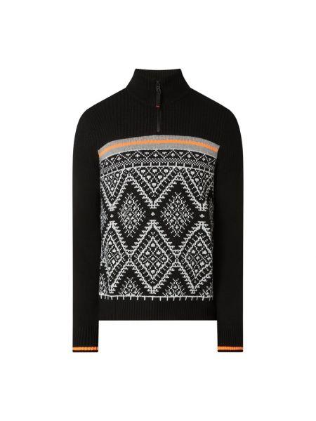 Prążkowana czarna bluza wełniana Bogner Fire + Ice