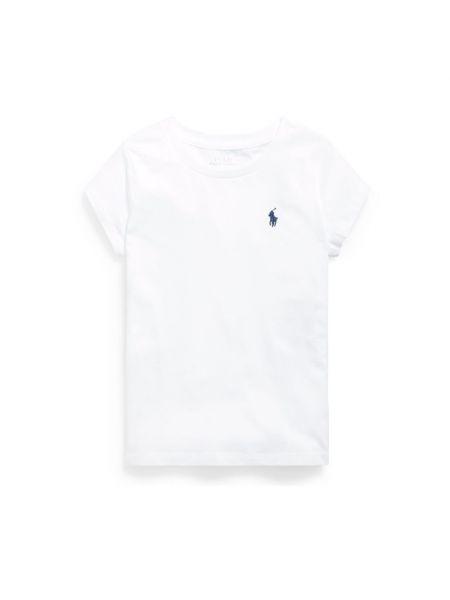 Biała koszulka oversize Ralph Lauren