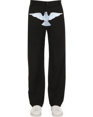 Z kaszmiru czarne spodnie z printem 3.paradis