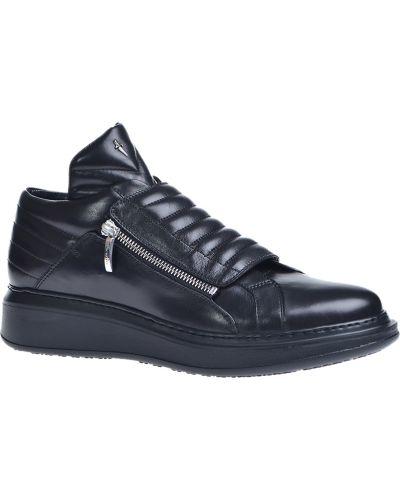 Кожаные ботинки осенние черные Cesare Paciotti