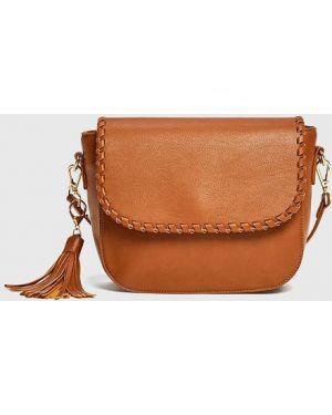 Коричневая сумка с кисточками Ostin