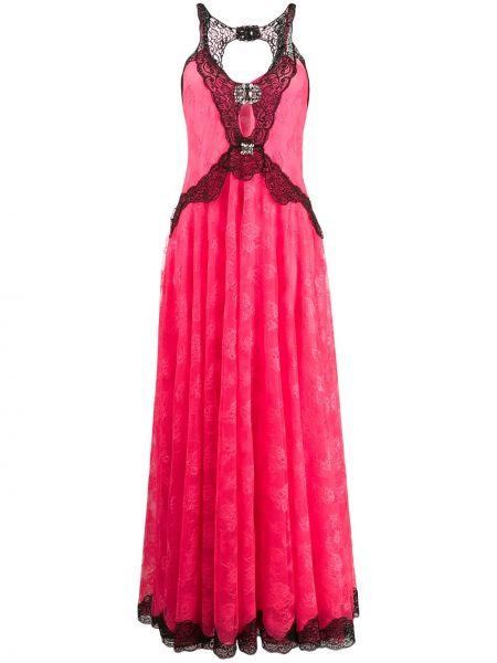 Sukienka bez rękawów różowa Christopher Kane