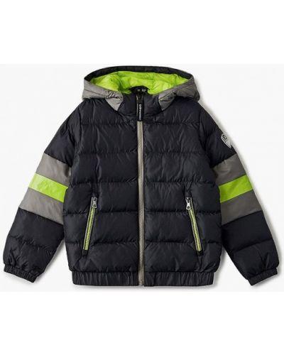 Теплая черная куртка Ea7