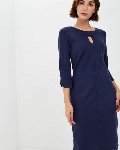 Повседневное платье осеннее синее Betty Barclay