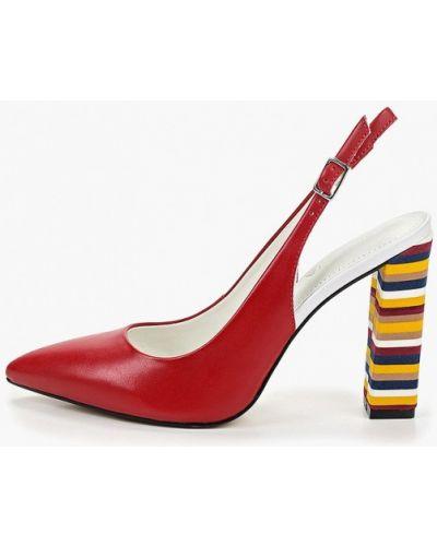 Туфли на каблуке кожаные бордовый Indiana