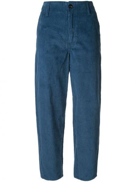 Синие брюки с воротником на пуговицах с высокой посадкой Nobody Denim