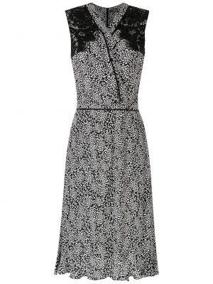 Платье миди на запах - черное À La Garçonne