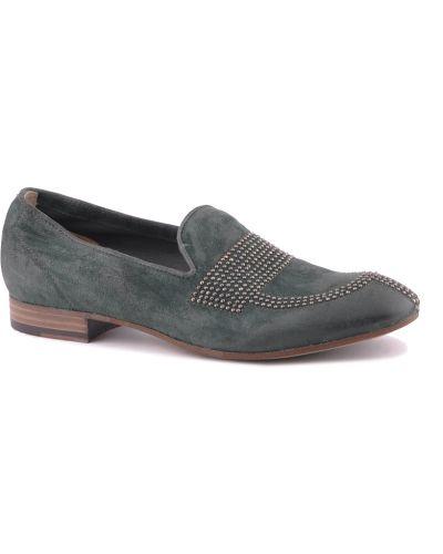 Кожаные туфли на каблуке замшевые Fru.it