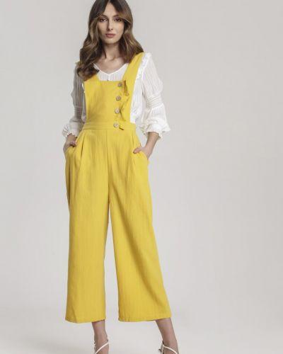 Żółty kombinezon materiałowy Renee