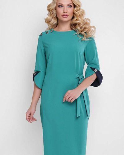 Бирюзовое платье миди Vlavi