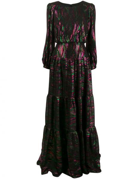 Платье черное с рукавами Saloni