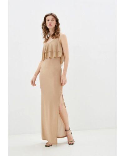 Прямое бежевое платье By Swan