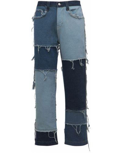 Синие джинсы пэчворк Jaded London