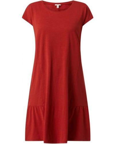 Pomarańczowa sukienka mini bawełniana Edc By Esprit