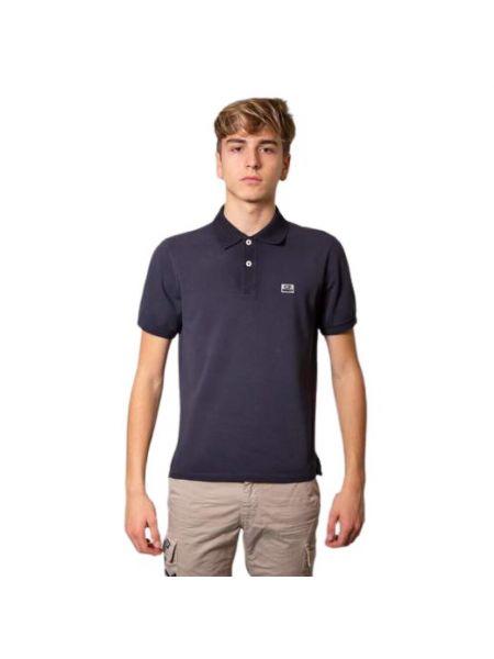 Niebieska koszula bawełniana krótki rękaw C.p. Company