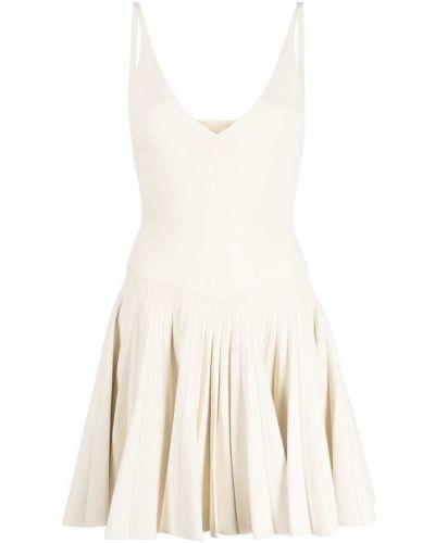 Белое платье из вискозы Khaite