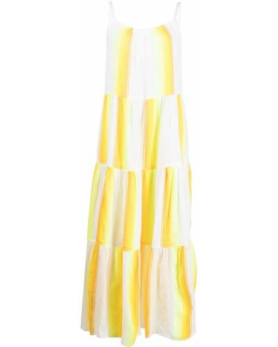 Żółta sukienka długa bawełniana z printem Lemlem