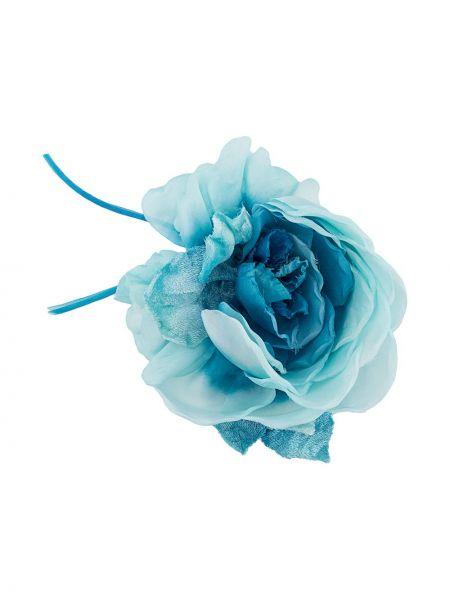 Broszka ze srebra niebieski z kwiatowym nadrukiem Alessandra Rich