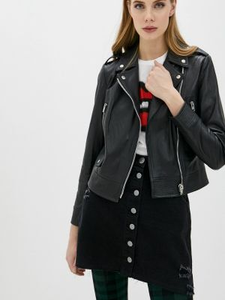 Черная кожаная куртка Blouson