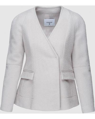 Шерстяной серый пиджак Dondup