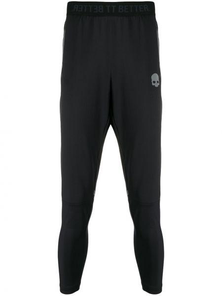 Czarne legginsy z wysokim stanem z printem Hydrogen