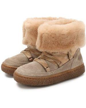 Ботинки коричневый бежевые Naturino