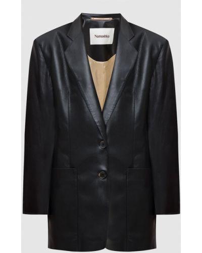 Черный удлиненный пиджак Nanushka