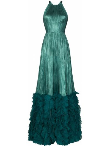 Шелковое платье макси - синее Maria Lucia Hohan
