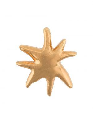 Со звездами золотистая желтая брошь металлическая Christian Lacroix Pre-owned