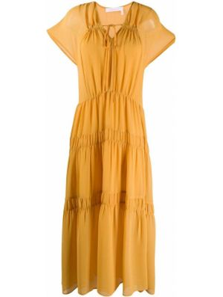 Плиссированное платье мини See By Chloé
